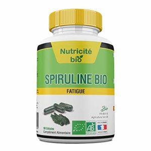 Spiruline bio 90 Gélules 400mg-Haute qualité, Facile à avaler-OFFERT Ebook numérique +Facture+Notice PDF-Garantie 100% -Complement spiruline Bio, pour stimuler le système immunitaire et réduire la fatigue