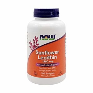 Sunflower Lecithin 1200mg – Now Foods – 100 – Softgel by Now Foods