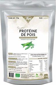 Super Proteine De Pois – Proteine Vegetale de Pois Biologique 80 – Nature – 2 kg