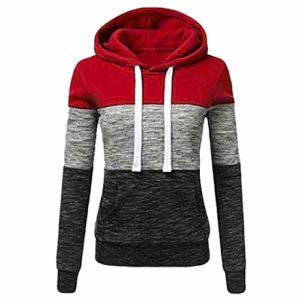 Sweat-Shirts Femmes Vetement Automne Mode Sweat à Capuche Imprimé Manches Longues Chemise Fille Pullover Jumper Hoodie Sweat Tops