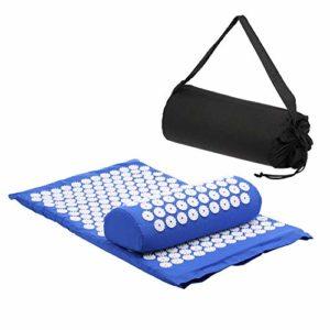 Tapis d'acupression, Kit d'Acupression Tapis Coussin de Massage pour Yoga Traitement des Douleurs, Anself Acupressure Massage Mat With Carry-bag