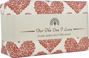 The English Soap Company, Occasions Shea Butter Soap, The One I Love- Rose, Red Wrap | Moisturising Bath Soap For Hydrating Skin With Shea Butter | 200g