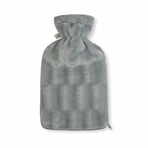UMOI Bouillotte écologique 2l avec housse polaire de haute qualité certifiée BS1970:2012
