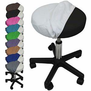 Vivezen ® Drap housse de protection en éponge pour tabouret rond – 10 coloris – Norme CE