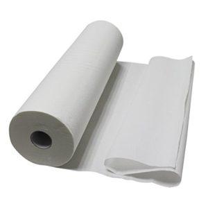 Vivezen ® Lot de 1, 4 ou 9 draps d'examen blanc 50, 60, 70 ou 84 cm – 34g/m2 double épaisseur gaufré 100% pure ouate – Norme CE