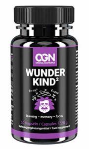Wunderkind² Original Nootropics® – Brain Booster pour améliorer les performances et la concentration – Capsules végétales avec 5htp, racine de rose, ginkgo