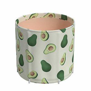 YBWEN Baignoire Pliable Pliante épaissie Usage Domestique Full Body Bath Barrel Femme Bath Barrel Modèle d'avocat Bains Soaking (Couleur : Vert, Size : 65x70cm)
