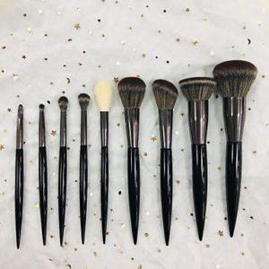 ZYC 9pcs Pinceaux à Maquillage Professionnel Pinceau de Maquillage Doux/Synthétique Plastique