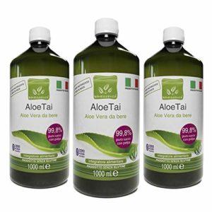 3 x 1000 ml ALOE VERA A BOIRE PUR A 99,8 % – PRODUIT ITALIEN