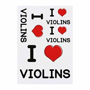 4 x 'I Love Violins' Tatouages temporaires (TO00000594)