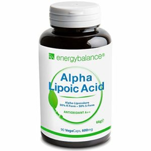 Acide alpha-lipoïque 600 mg, 90 VégéCaps