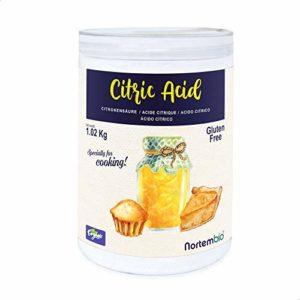 Acide Citrique NortemBio 1,02 kg. La Meilleure Qualité Alimentaire. Développé en France
