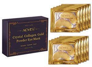 ALIVER Cristal 24 K Or Poudre Gel Collagène Masque pour les yeux Doré œil Mask10 paires/paquet