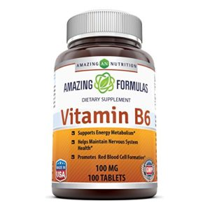 Amazing Nutrition Vitamin B6 100 Mg 100 Tablets