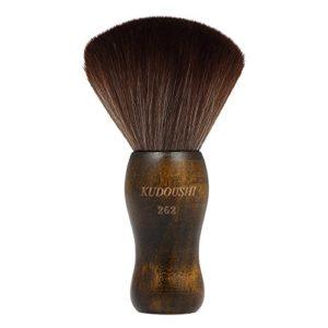 Anself Balais à Cou à Poils Longs Poignée en Bois de Coupe de Cheveux de Salon de Coiffure
