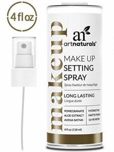 ArtNaturals Spray Fixateur de Maquillage – 118ml – Longue Durée / Tient toute la Journée – 100% Naturel à l'Aloe Vera
