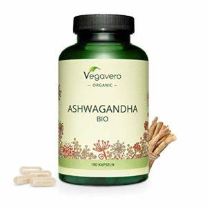 Ashwagandha BIO Vegavero® | 180 Gélules | 600 mg | Plante Ayurvédique et Adaptogène | 2% Withanolides | Anti-Stress – Sommeil Réparateur – Anti-Fatigue | Fabriqué en Allemagne | Vegan