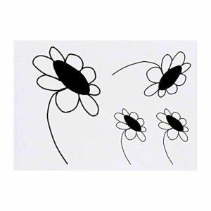 Azeeda 4 x 'Marguerite' Tatouages temporaires (TO00006710)