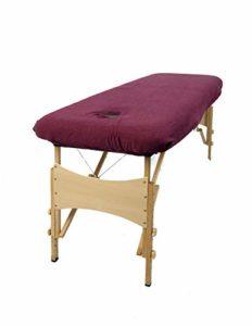 Aztex Classique Housse pour divan de massage de Luxe, aubergine, avec trou pour le visage, polycoton élastique par TowelsRus