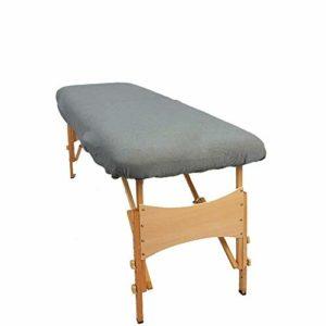 Aztex Classique Housse pour divan de massage, gris, sans trou pour le visage, tissu élastique par TowelsRus