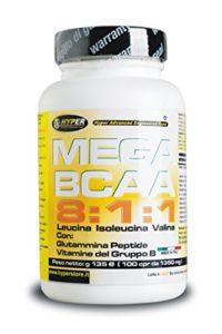 BCAA 8: 1: 1 Acides Aminés Ramifiés Avec Peptide de Glutamine Vitamines Groupe B 1200 Comprimés 1620 gr 8 Leucine 1 Isoleucine 1 Valine Augmentation de la Masse Musculaire Favorise la Récupération