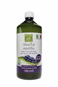 Benessence ALOETAI A LA Myrtille – Aloe Vera A Boire Pur A 91,8% avec JUS DE Myrtille 1000 ML