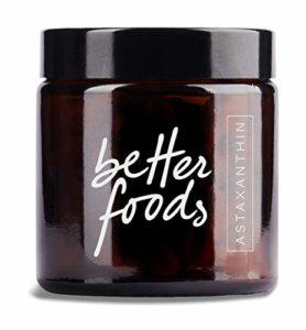 Better Foods Supplément Alimentaire d'Astaxanthine   Extrait Naturel de Romarin et Vitamine E   Produit de Santé Antioxydant et Anti Inflammatoire en Micro Algae   80 Gélules à 4 mg Astax