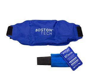 Boston Pak – 2 compresse chaude et froide gel, réutilisables. 1 avec ceinture universelle réglable et 1 avec bande de compression. Idéal pour la douleur de dos, épaule, bras, reins, estomac