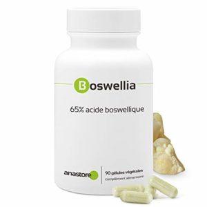 BOSWELLIA * 100% naturel * Titré à 80% en acide boswellique * 300 mg / 90 gélules végétales * Anti-inflammatoire naturel puissant * Qualité contrôlée par certificat d'analyse * 100% satisfait ou remboursé