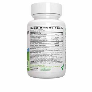 Calcium & Magnésium, Complexe Minéral Marin avec Bore, Vitamine D3 et K2, Vegan, 90 capsules