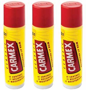 Carmex Classic Lippenbalsam Stick (LSF 15), paquet de 3 (3 x 4 g).