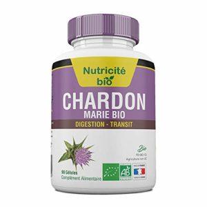 Chardon – Marie Bio 90 gélules – Nutrima Bio – Extrait à 80% de Silymarine – 200mg Pour Soulager le Foie Et la Digestion