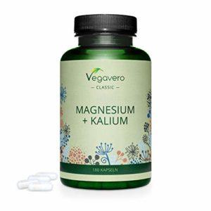 Citrate De Magnésium (225mg De Magnésium Élémentaire) + Citrate De Potassium | Meilleure Forme Assimilable | 180 Gélules Végétales | Vegavero® | Vegan