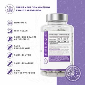 Citrate de magnésium [ 400 mg ] Complément alimentaire 180 Gélules par Aava Labs – Pur – Muscles et os – Qualité nordique – 100% végétalien et sans OGM.