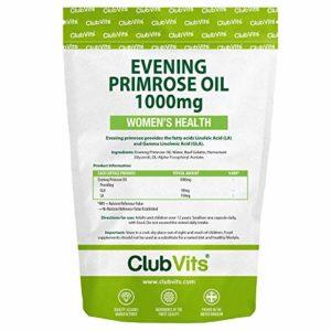 Club Vits – 365 gélules d' huile d' onagre – capsules de 1000 mg – balance hormonale