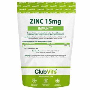 Club Vits | Zinc 15 mg | 90 comprimés