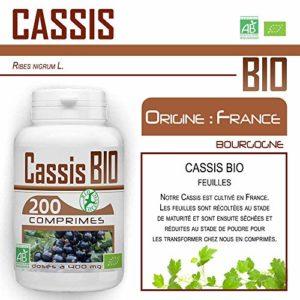 Comprimés Bio – Cassis 200