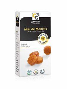 COMPTOIRS ET COMPAGNIES – IAA10+ Pastilles 100% Miel de Manuka – boite de 20g soit 8 pastilles