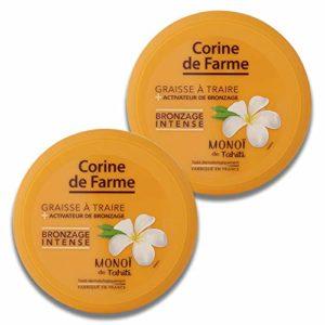 Corine de Farme Graisse à Traire en Pot avec Accélérateur de Bronzage 150 ml – Lot de 2