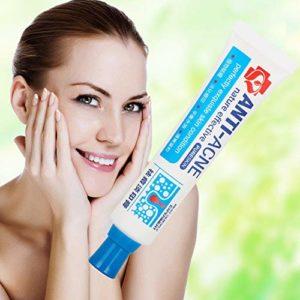 Creme Acne Visage, Anti Acné, Acne Traitement Crème, réduisant points noirs et boutons, Gel anti acné visage regénérant, 30g