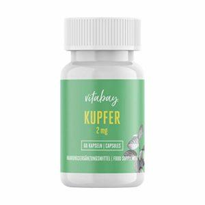 Cuivre 2 mg – gluconate de cuivre – haute biodisponibilité (60 capsules végétaliennes)