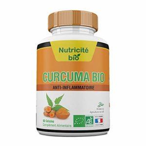 Curcuma Bio 90 gélules–Anti-inflammatoire naturel–Efficace–Effets immédiats–OFFERT: Facture + Notice d'utilisation PDF–Racines de Curcuma Longa pour soulager les articulations et calmer les douleurs