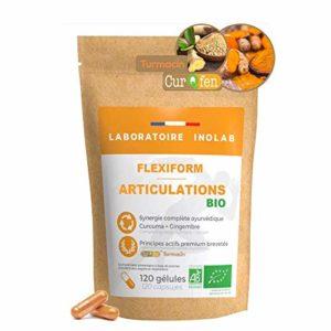 Curqfen | SANS ADDITIFS | 60 gélules | Curcumine libre biodisponible + de 12 heures | Distribution tissulaire prouvée par études cliniques. Curcuma
