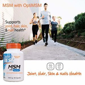 Doctor's Best, Best MSM, 1000 mg, 180 Capsules