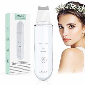 Épurateur ultrasonique de peau, ANLAN Ultrason Visage Épurateur de Peau Nettoyage les Pores Acné Ridules et Rides Nettoyeur Enlever Peeling
