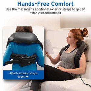 Etekcity Masseur à épaule et cou avec 2 Modes de Chauffage massage Shiatsu 8 Têtes de Massage Rotation de 3D pour le Dos Lombes Bras Cuisse Hanches Pieds Cervical Nuque, garantie de 2 ans.