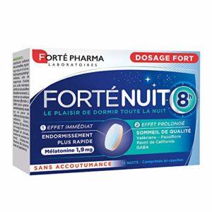 Forté Pharma Forté Nuit 8h   Complément alimentaire sommeil à base de mélatonine et de plantes   15 comprimés bi-couches = 15 nuits