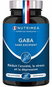 GABA NUTRIMEA Efficace pour traiter l'anxiété – favorise le sommeil 750 mg/jour ▪️ FABRICATION FRANÇAISE ▪️ SATISFAIT OU REMBOURSE ▪️ 60 gélules végétales