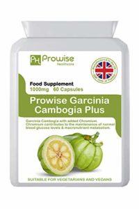 Garcinia Cambogia 500mg 60 capsules – Complément alimentaire de haute qualité fabriqué au Royaume-Uni – Qualité Gmp assuré – – Convient aux végétariens et aux végétaliens