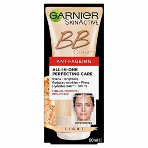Garnier – SkinActive – BB Crème – Soin miracle perfecteur 5-en-1 – Anti-Âge – Teinte Claire – 50ml